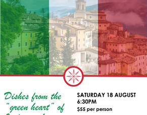 A Trip to Italy - Umbria dinner 18 August